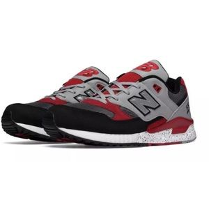 New Balance 530 Red BlackWhite Speckled Sneakers